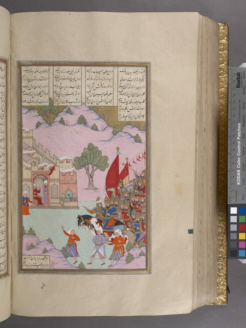 Iskandar marches through Hind (India) where the people of the cities open their gates to him.