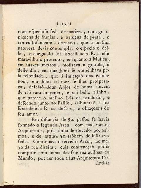 Relaçaõ da entrada que fez o excellentissimo, e reverendissimo senhor D. Fr. Antonio do Desterro Malheyro bispo do Rio de Janeiro