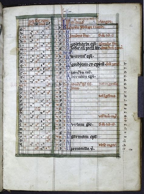 Page of calendar for May.
