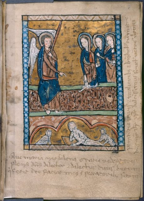 Full-page miniature, notes.
