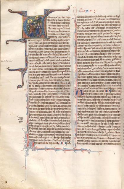 Amos, historiated initial