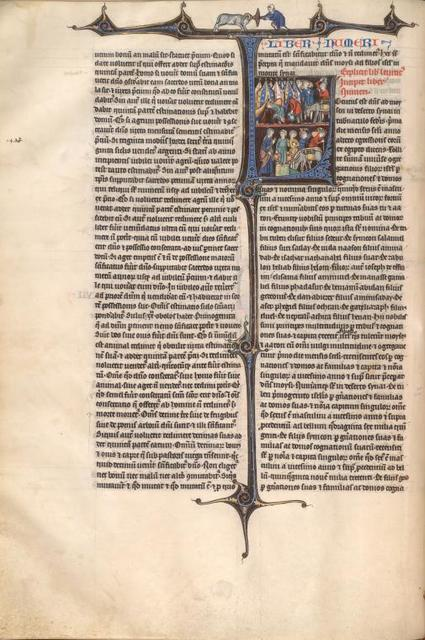 Numbers, historiated initial