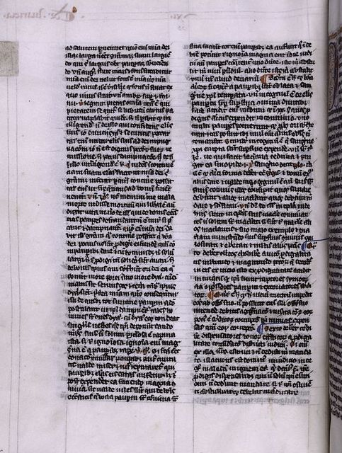 Page of text with vellum tab attached.