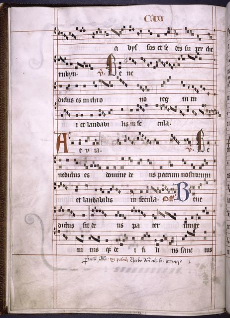 Page of music, note written in at bottom.