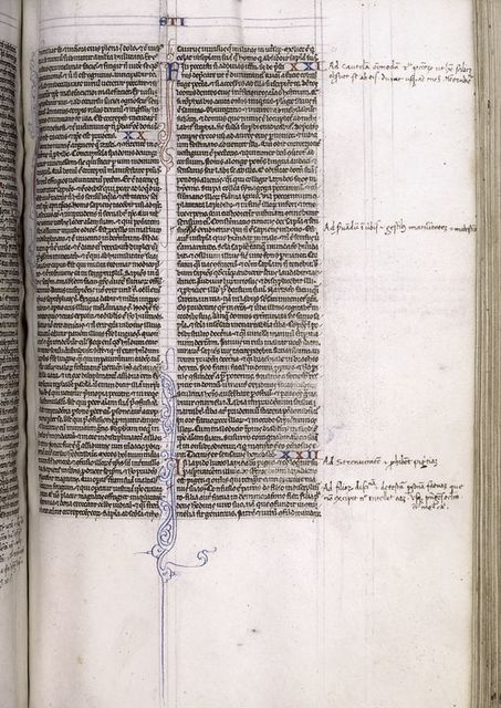 Page of text with marginal notes.