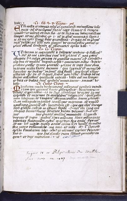 Explicit of text, with colophon indicating date.  Fact that year is left blank may indicate that dating clause (referring to death of Pope and Duke) was copied from exemplar.