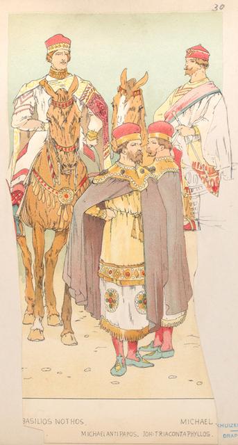 Basilios Nothos, Michael Antipapos. Jon Triacontaphyllos, Michael.