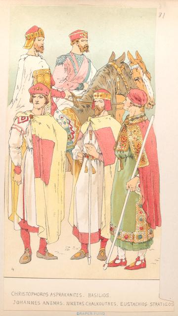 Christophoros Asprakanites, Basilios, Johannes Anemas, Niketas Chalkoutres, Eustachios Stratigos.