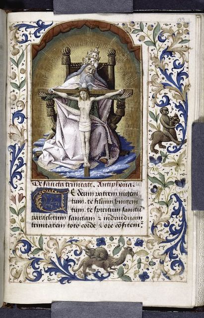 Miniature of the Trinity, initial, border design.