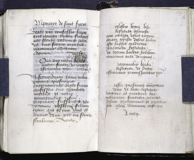 Prayers added at the end of the manuscript.