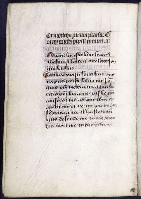 Close of French text in main hand; hand 3.