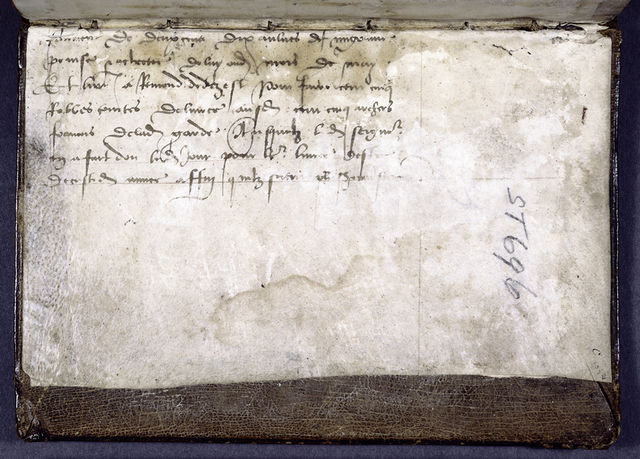 Explicit of [Charter?] text pasted into binding.