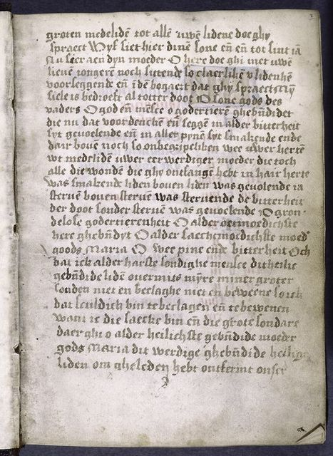 First page in Flemish, hand 1.