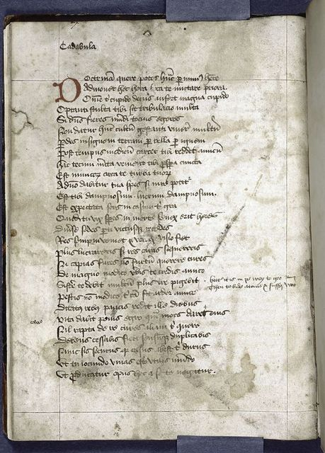 Last page of text, with red initial.