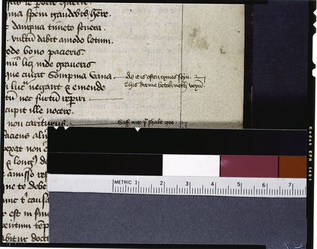 """Middle English marginal note: """"As it is often tymes seyn...."""""""