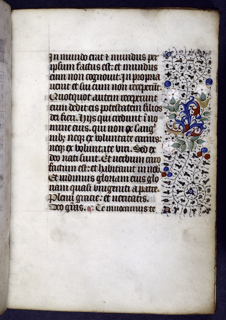 Opening page of text with border decoration.