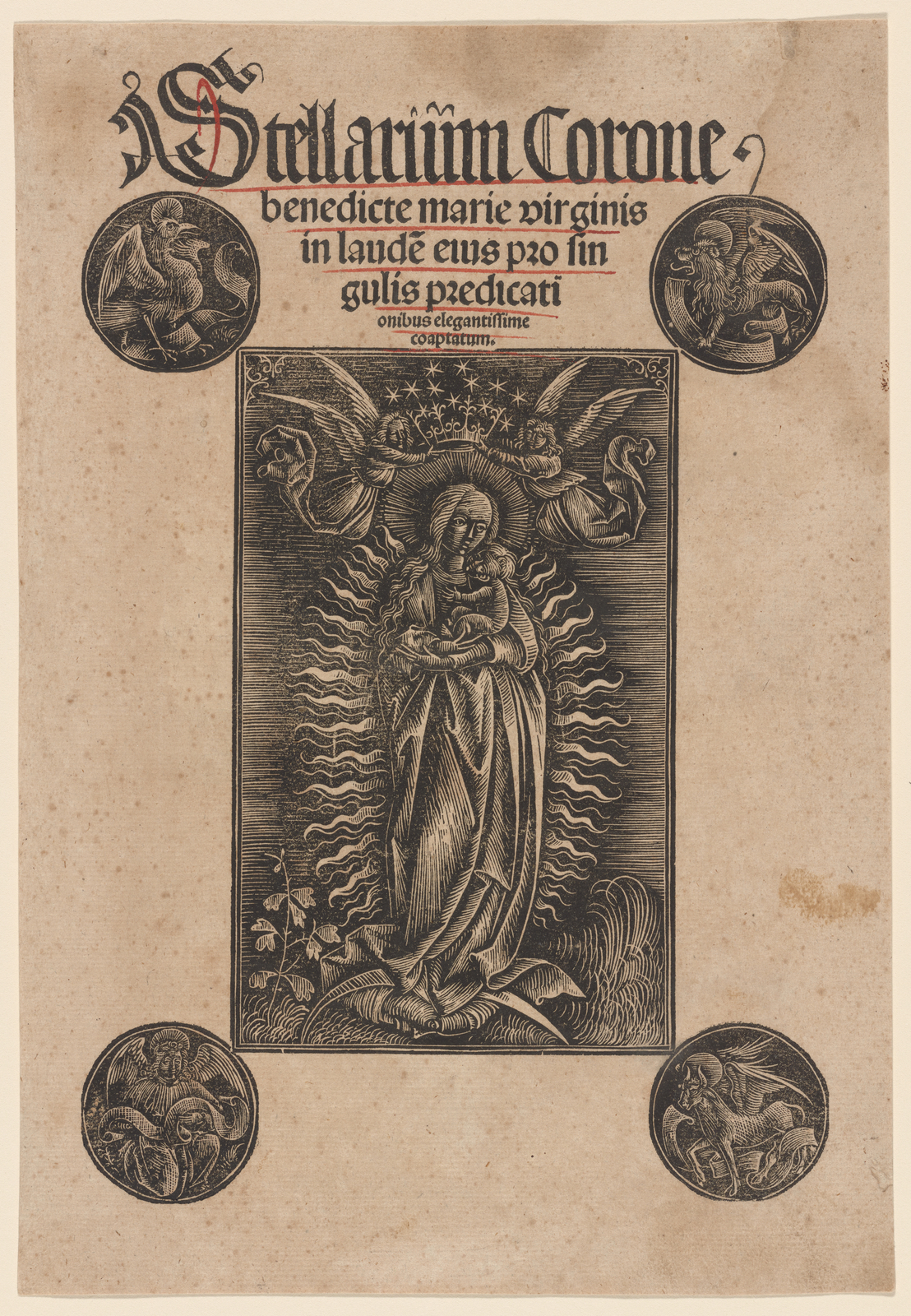 Madonna In Glory With The Symbols Of The Evangelists Frontispiece