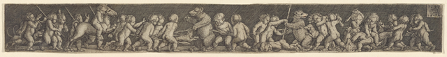 Frieze with Children Fighting Bears