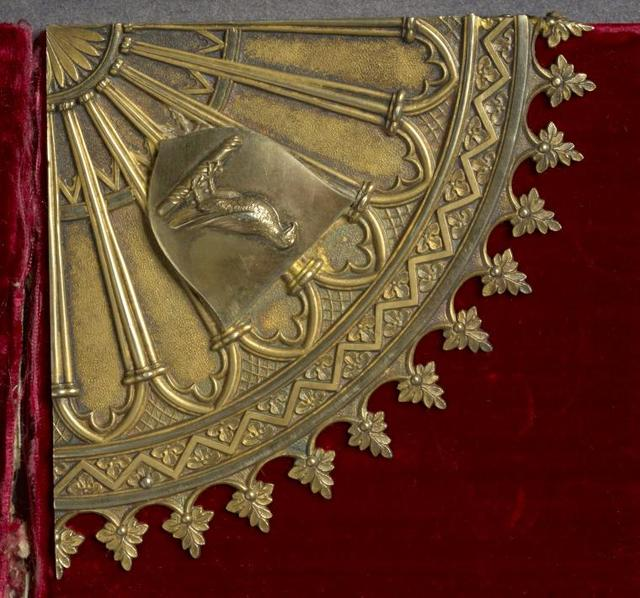 Towneley Lectionary details. Cornerpiece front