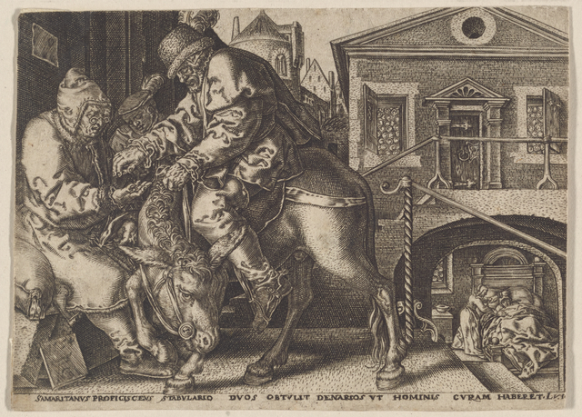 The Good Samaritan Paying the Innkeeper for the Care of the Wounded Man