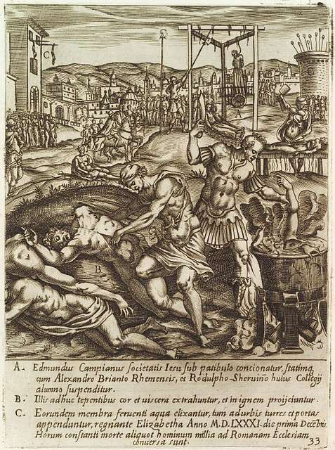 The execution of Edmund Campion, Alexander Briant and Ralph Sherwin