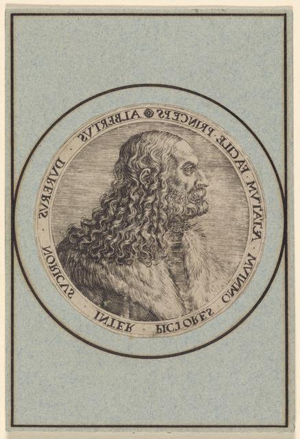 Albertus Durerus Noricus Inter Pictores [Portrait of Albrecht Dürer]