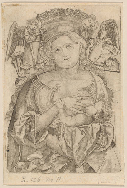 Madonna and Child being Crowned by Two Angels