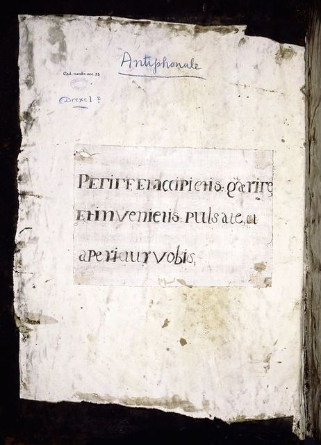 Note in Latin pasted into inside front cover.