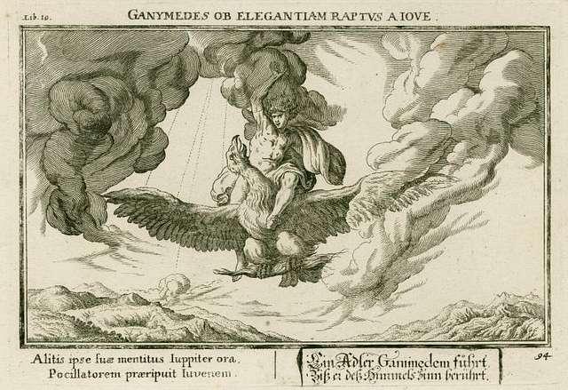 Ganymedes ob elegantiam raptus a Jove