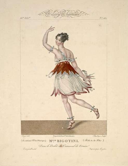 Mlle. Bigotini rôle de la folie dans le balet du Carnaval de Venise