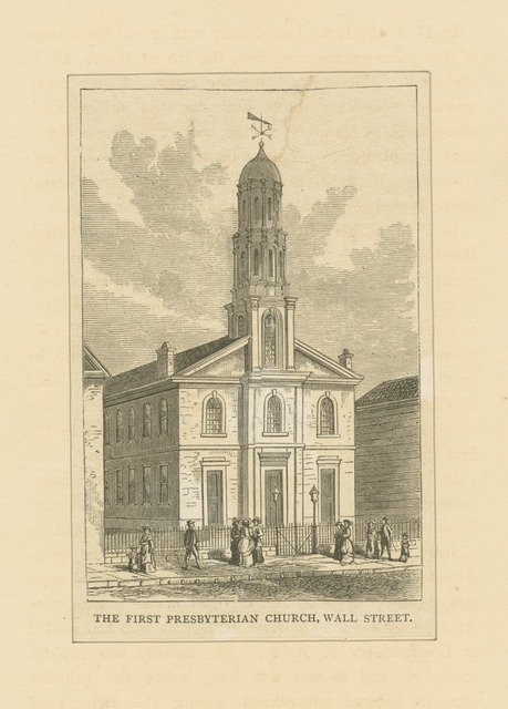 The First Presbyterian Church, Wall Street