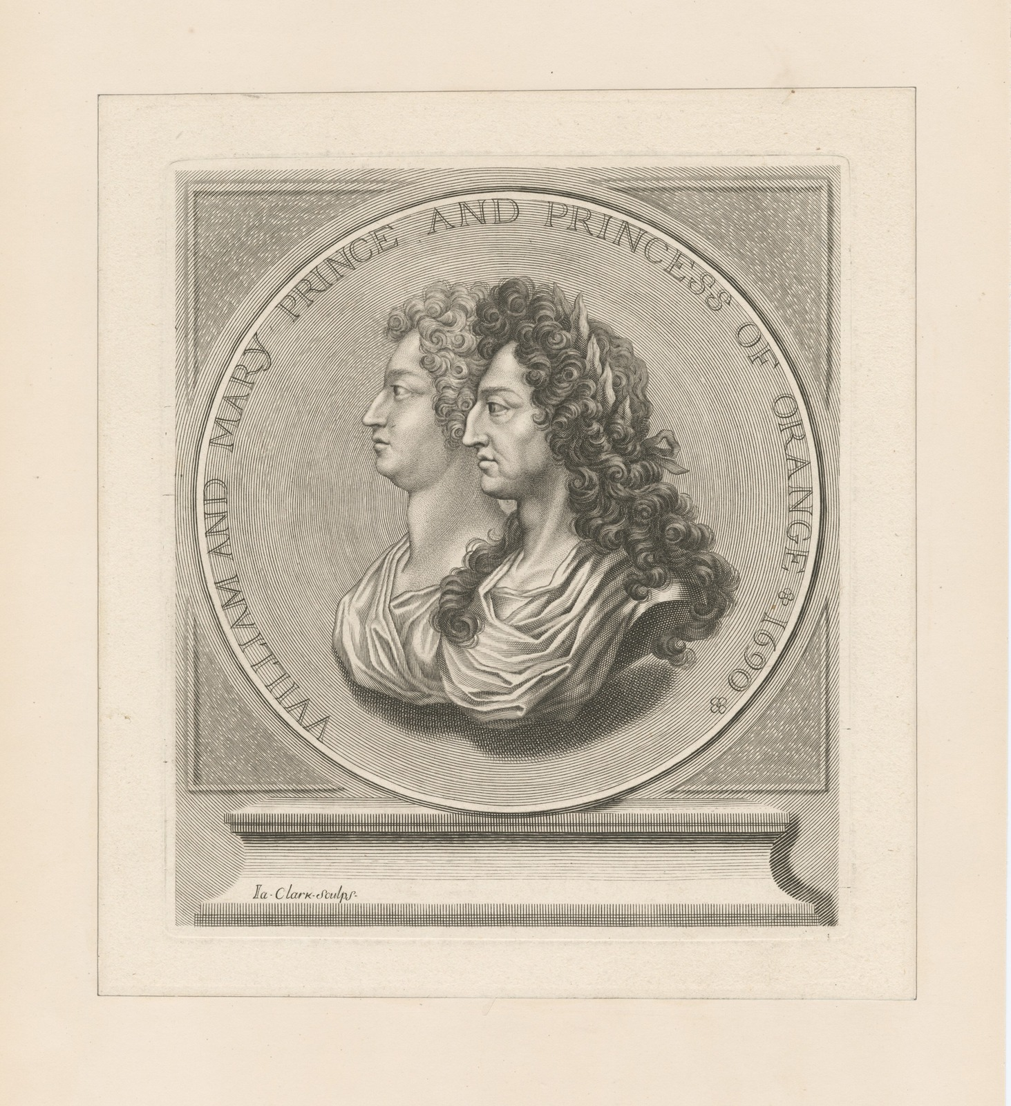 William and Mary Prince and Princess of Orange 1690