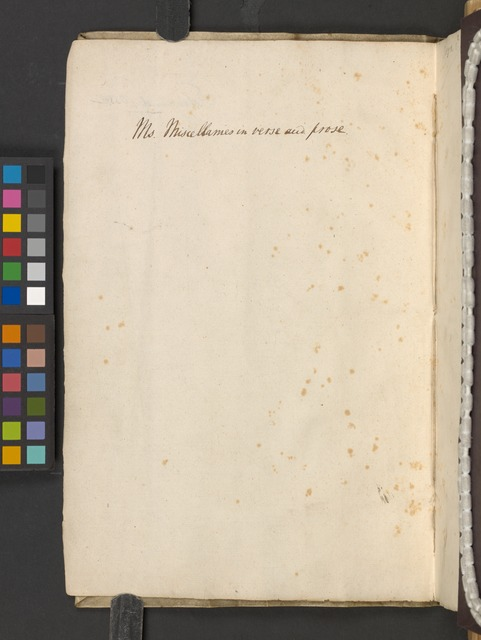 [The Westmoreland manuscript of the poems] (Blank page - v)