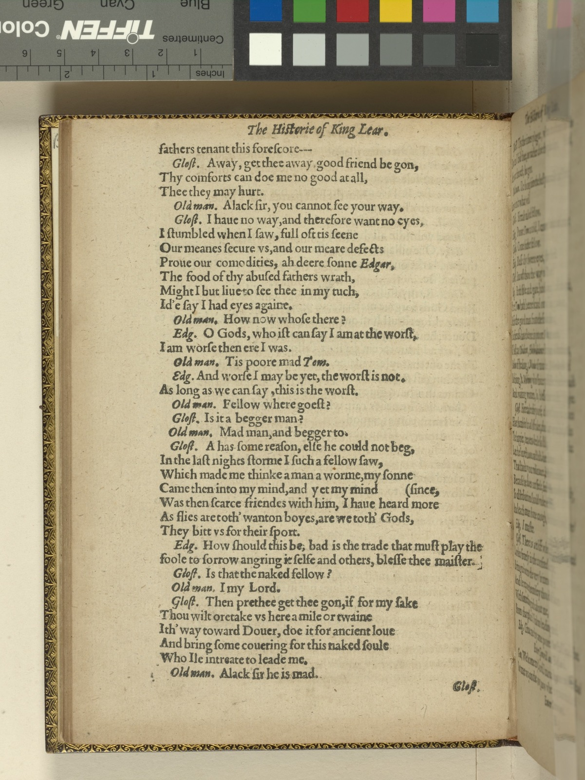 The Historie of King Lear. Shakespeare, William (1564-1616)