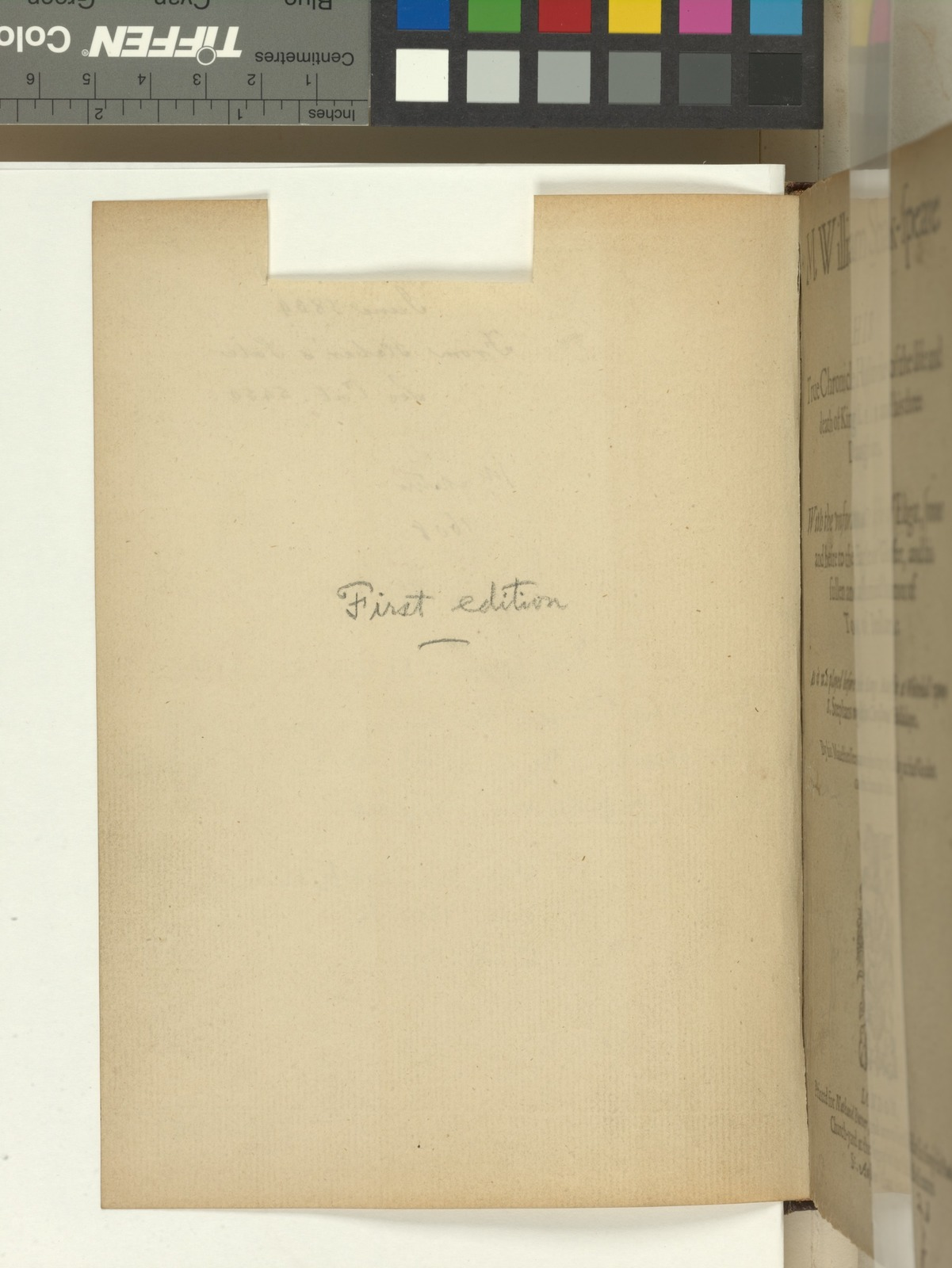 Verso of blank with inscriptions.