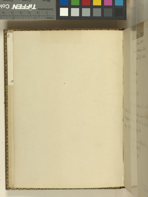 Verso of front free endpaper