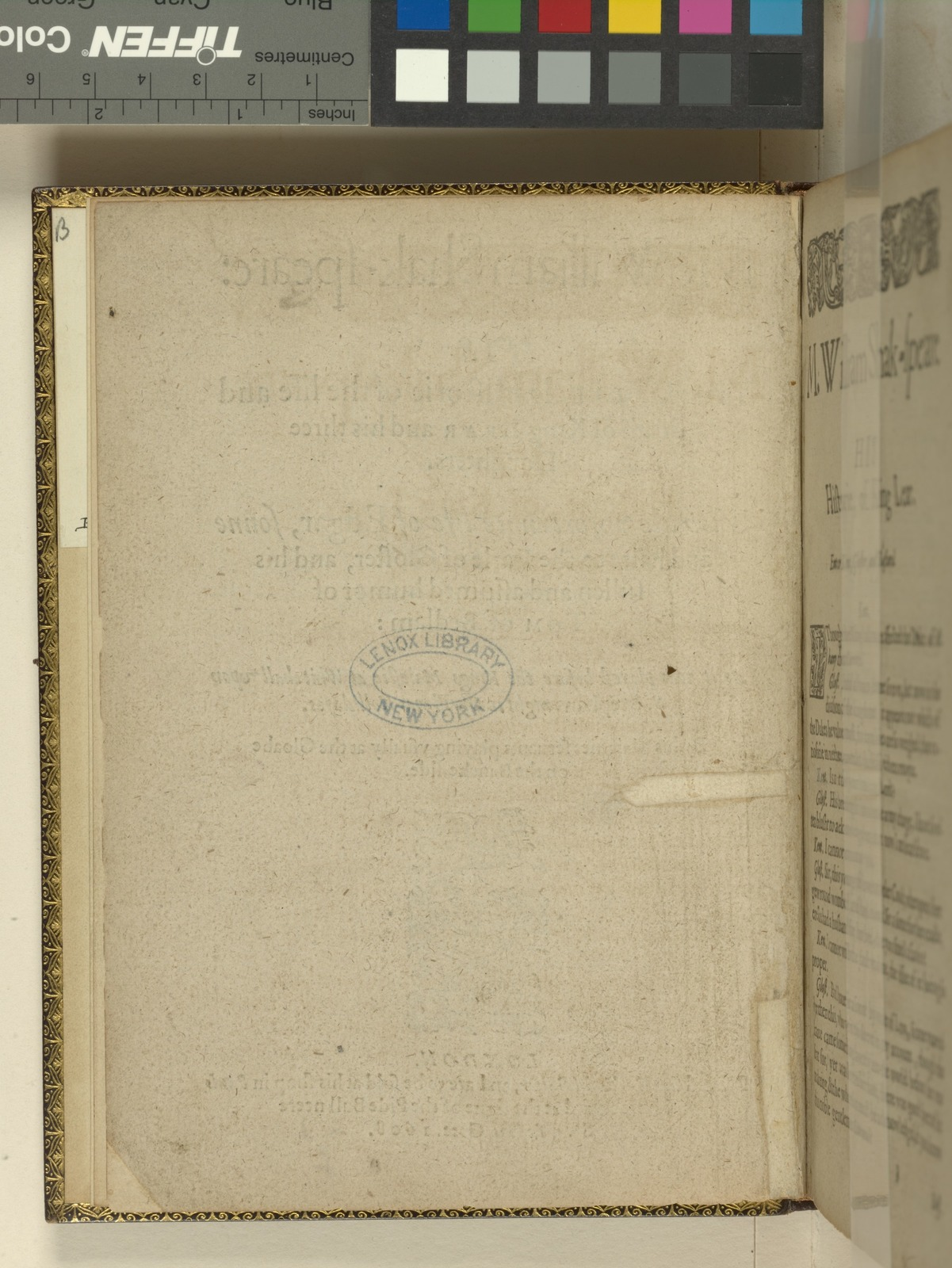 Verso of title page