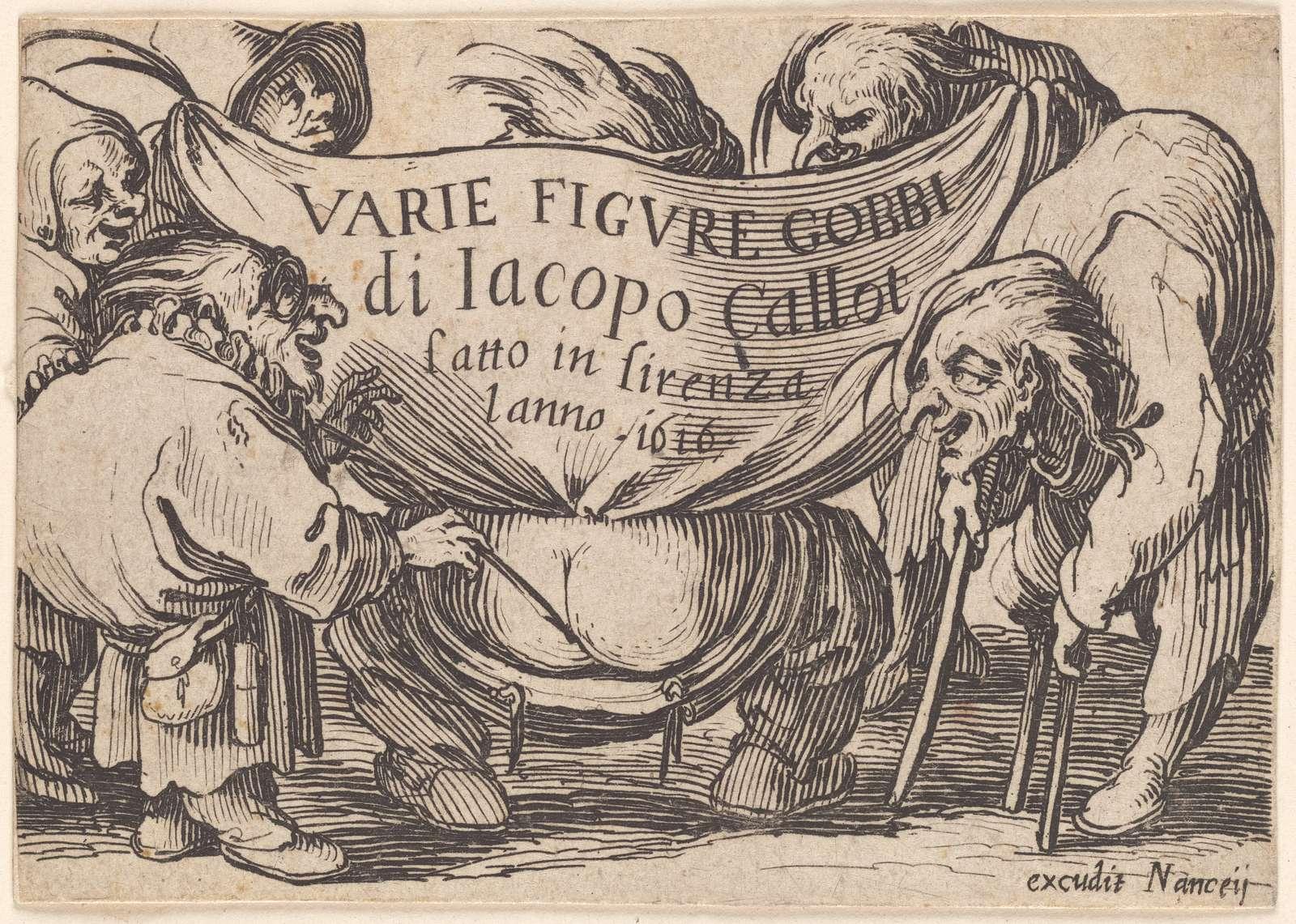 Frontispice (From: Varie figure gobbi, suite appelée aussi Les bossus, Les pygmées, Les nains grotesques)