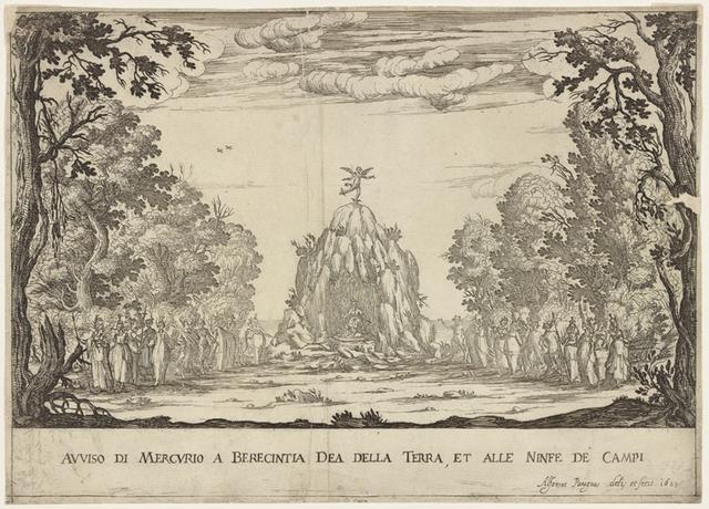 Avviso di Mercurio a Berecintia, dea della terra, et alle ninfe de campi: Alfonsus Parigius deli: et fecit