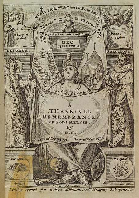 A Thankfvll Remembrance of Gods Mercie, title page