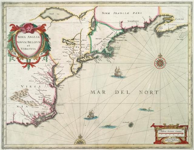 Nova Anglia Novvm Belgivm et Virginia.
