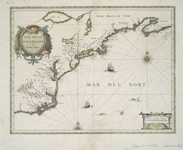 Nova Anglia, Novum Belgium, et Virginia.