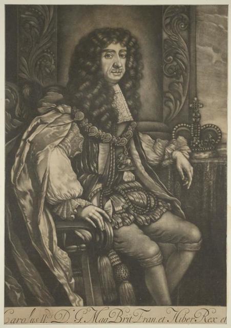 Carolus II D.G. Mag. Brit. Franc. et Hiber. Rex.