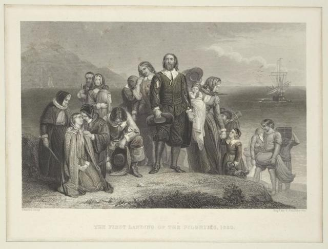 The first landing of the Pilgrims, 1620.