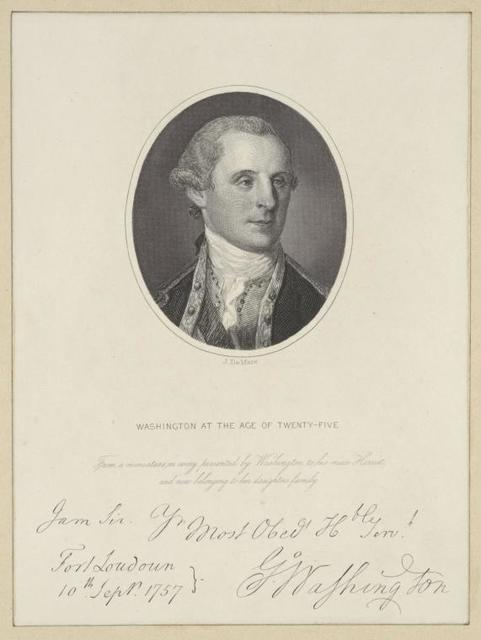Washington at the age of twenty-five.