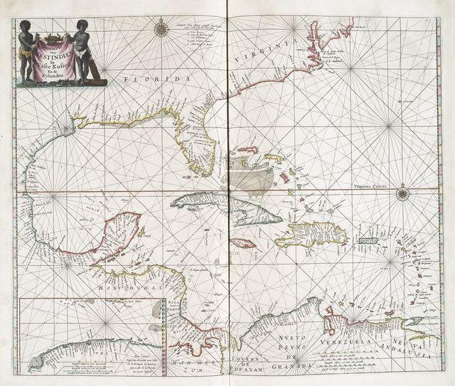 Pascaerte van Westindien : de vaste kusten en de Eylanden.