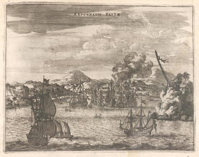 Expugnatio Paytae. [View of sailboats.]