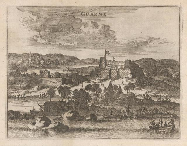 Guarme. [View of the Fort and town.]