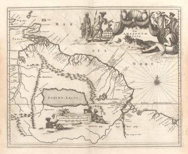 Guiana fiue Amazonum Regio.