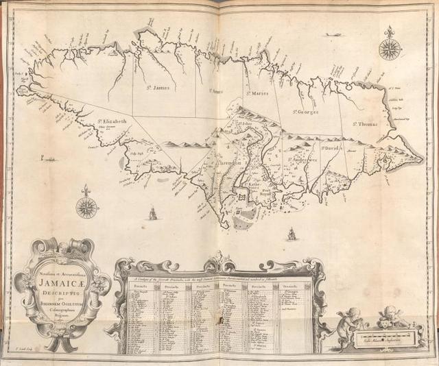 Novissima et Accuratissima Jamaicae Descriptio per Johannem Ogiluium Cosmographum Regium 1671